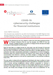 COVID-19:  cybersecurity challenges  for financial institutions