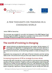 A few thoughts on training in a changing world