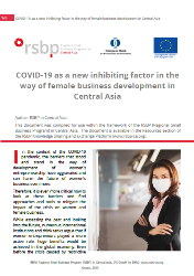 COVID-19 as a new inhibiting factor in the way of female business development in Central Asia