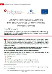 Analysis of financial ratios for the purpose of monitoring problem loans
