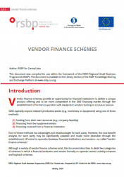 Vendor finance schemes